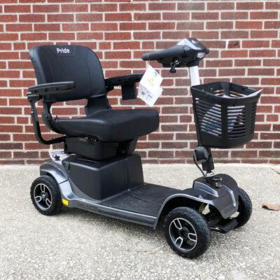 Pride Revo 2.0 four wheeled mobility scooter - black - three quarter view