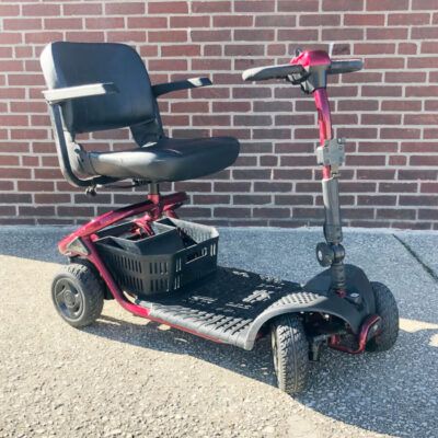 Golden LiteRider Mobility Scooter four wheeled - Red - three quarter view