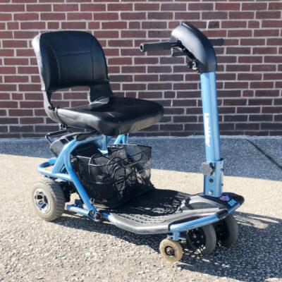 Rascal Lite Way Mobility Scooter four wheeled - Blue - three quarter view