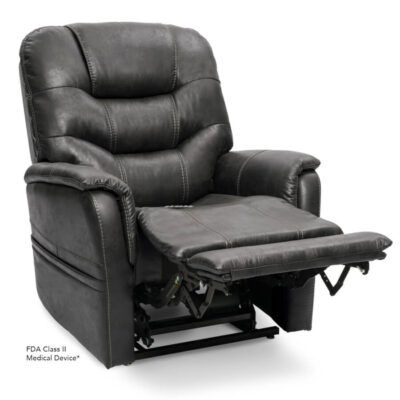 Viva Lift power lift recliner - Elegance Collection - Badlands Steel - Reading position