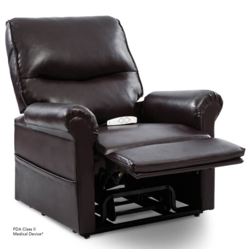 Viva Lift power lift recliner - Essential Collection - LC-105 - Lexis Urethane - New Chestnut - Reading position