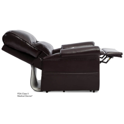 Viva Lift power lift recliner - Essential Collection - LC-105 - Lexis Urethane - New Chestnut - Reclined Profile