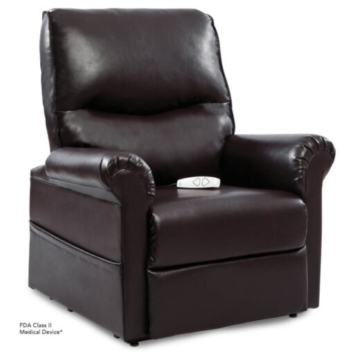 Viva Lift power lift recliner - Essential Collection - LC-105 - Lexis Urethane - New Chestnut - Seated position