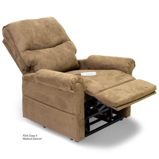Viva Lift power lift recliner - Essential Collection - LC-105 - Micro-Suede - Sandal - Reading position