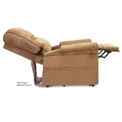 Viva Lift power lift recliner - Essential Collection - LC-105 - Micro-Suede - Sandal - Reclined Profile
