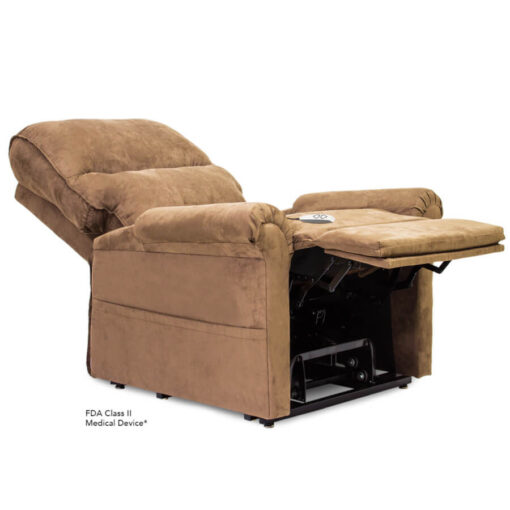 Viva Lift power lift recliner - Essential Collection - LC-105 - Micro-Suede - Sandal - Reclined position