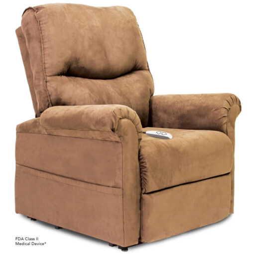 Viva Lift power lift recliner - Essential Collection - LC-105 - Micro-Suede - Sandal - Seated position