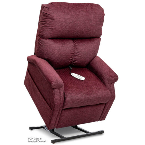 Viva Lift power lift recliner - Essential Collection - LC-250 - Cloud-9 - Black Cherry -Lifted position