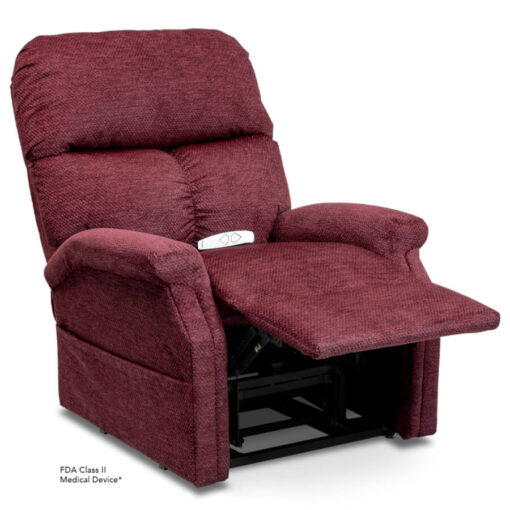 Viva Lift power lift recliner - Essential Collection - LC-250 - Cloud-9 - Black Cherry -Reading position