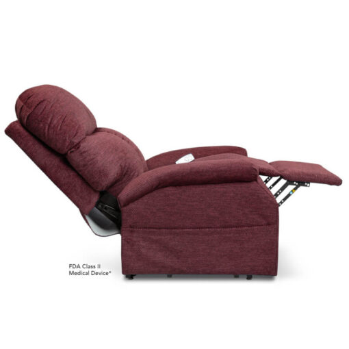 Viva Lift power lift recliner - Essential Collection - LC-250 - Cloud-9 - Black Cherry -Reclined Profile