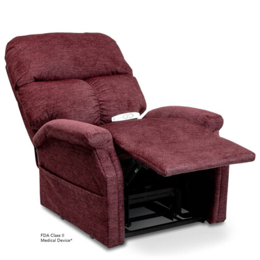 Viva Lift power lift recliner - Essential Collection - LC-250 - Cloud-9 - Black Cherry -Reclined position