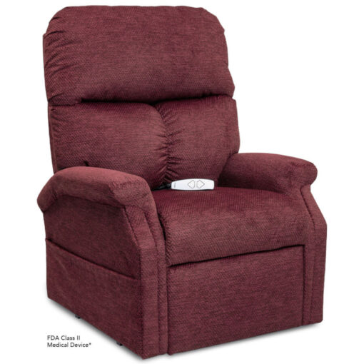 Viva Lift power lift recliner - Essential Collection - LC-250 - Cloud-9 - Black Cherry - Seated position