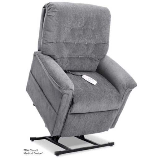 Pride power lift recliner - Heritage Collection – Crypton Aria Cool Grey - Lifted position.