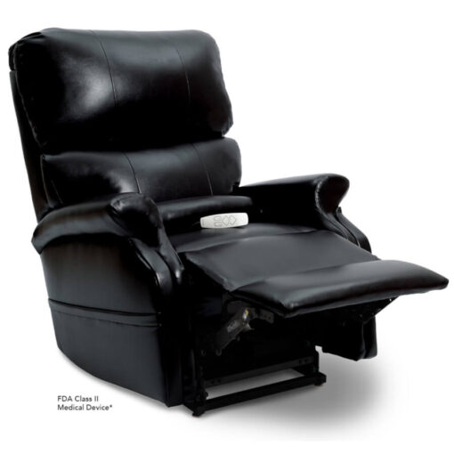 Pride power lift recliner - Infinity Collection – Lexis Sta-Kleen Black – Reading position.