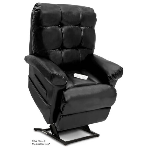 Pride's power lift recliner - Oasis Collection – Lexis Sta-Kleen Black - Lifted position.