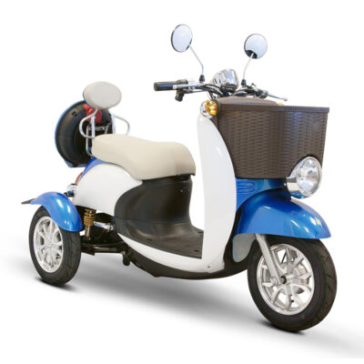 EWheels EW-11 electric scooter in Blue - Angled right