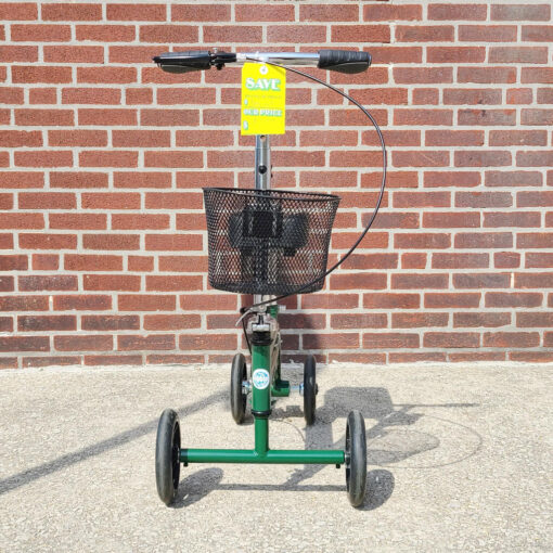 Kneerover Steerable Knee Scooter - manual aid - in Green - Front view