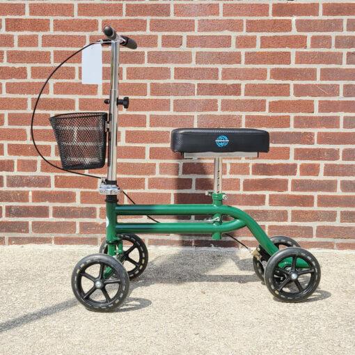 Kneerover Steerable Knee Scooter - manual aid - in Green - Left side