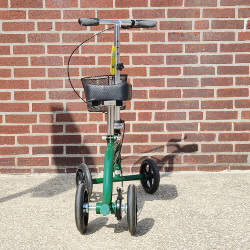 Kneerover Steerable Knee Scooter - manual aid - in Green - Back view