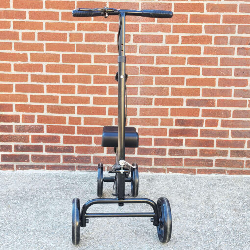 Kneerover Steerable Knee Scooter - manual aid - in Black - Front view