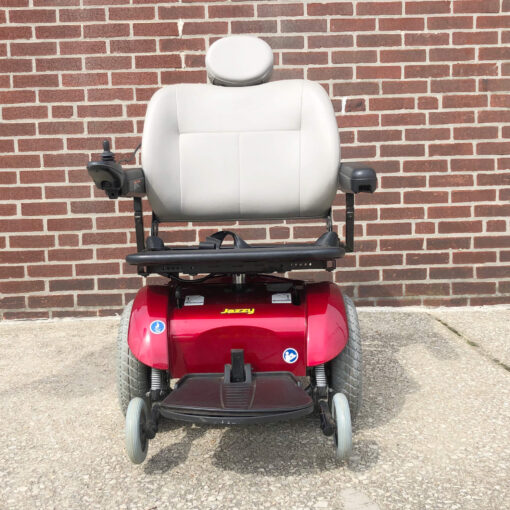 Pride Jazzy Select 14XL Power Wheelchair in red - front view