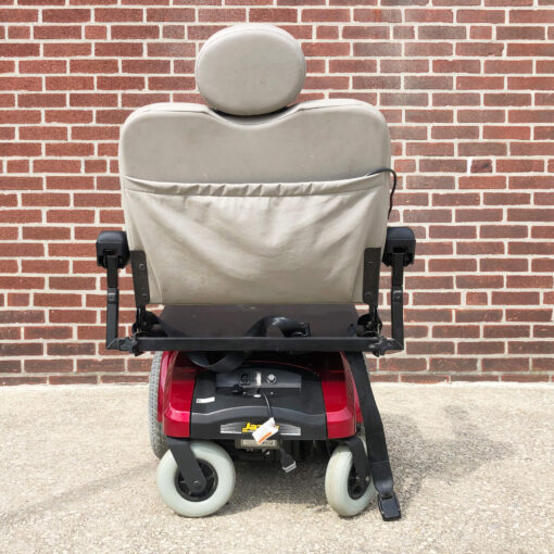 Pride Jazzy Select 14XL Power Wheelchair in red - rear view
