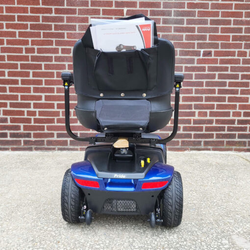 Pride Victory 10 four wheel mobility scooter in blue - rear view