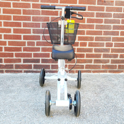Steerable Knee Scooter - manual aid - in White - Back view