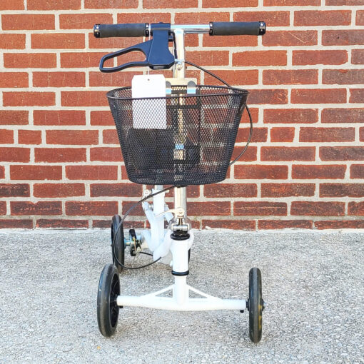 Steerable Knee Scooter - manual aid - in White - Front view